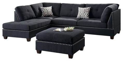 hillsdale sectional sofa set black contemporary