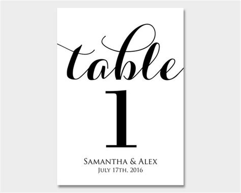 wedding table numbers template personalized table numbers wedding table numbers printable table numbers customized table