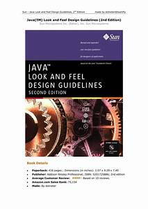 Java Tm  Look And Feel Design Guidelines  2nd Edition