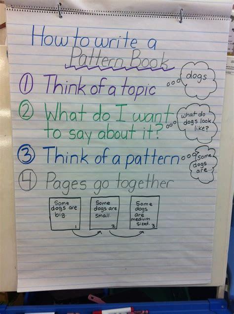 anchor chart  writing pattern books kindergarten