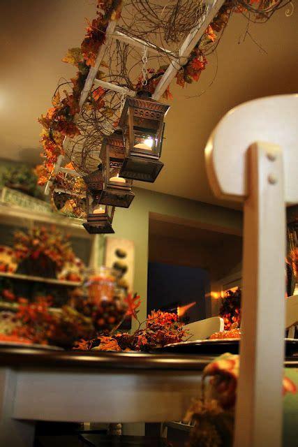 DIY Framed Cork Board Decor Fall decor Vintage ladder