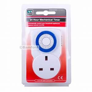 Masterplug Plug In 24 Hour Mechanical Timer Lighting Time