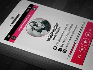 phone music business card by mehedi hassan graphicriver With music business card design