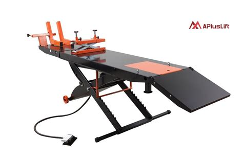 New Apluslift Mt1500 1500lb Air Op Motorcycle Lift Table