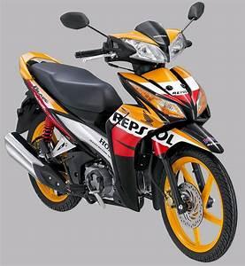 Jual Lis Body  Striping Honda New Blade 110 Repsol Livery