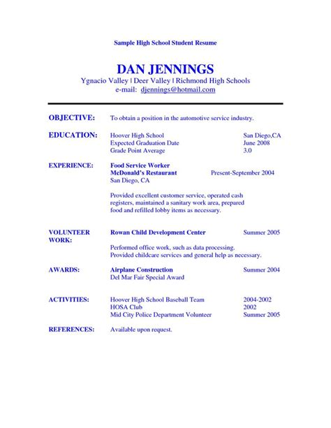 14797 resume objectives exles for students high school student resume objective exles sle