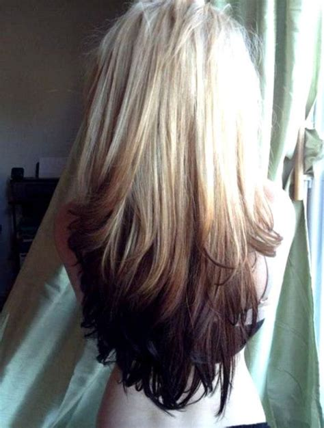 Ombre Hair Extensions Blonde Dip Dyeoppertie Red Brown