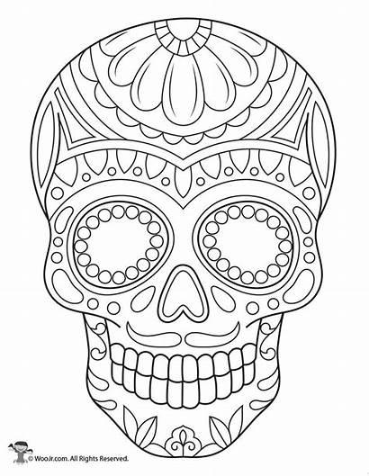 Skull Sugar Coloring Pages Skulls Printable Adult