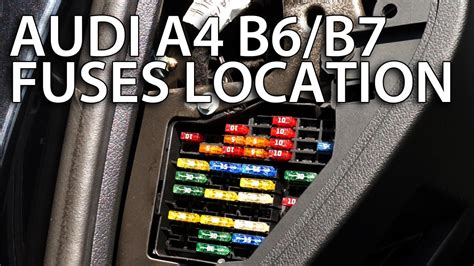 fuses location audi     fixinfo