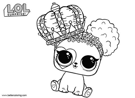 Kleurplaat Lol by Lol Pets Coloring Pages Barker Free Printable