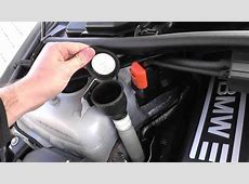 BMW E90 E91 E92 E93 Washer Fluid Top Up Location YouTube