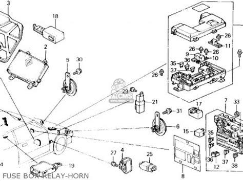 1990 Honda Civic Fuse Box by Honda Civic 1990 3dr Dx Ka Kl Parts List Partsmanual