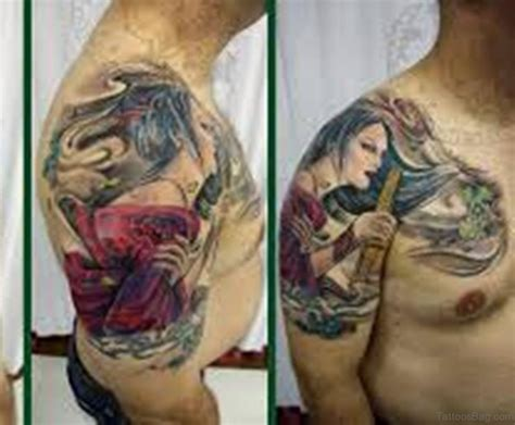 graceful geisha tattoos  shoulder
