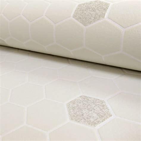 Rasch Honeycomb Hexagon Pattern Glitter Kitchen Bathroom