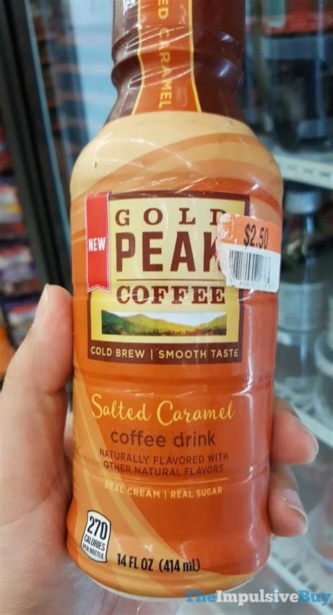 Also, feel free to follow gold peak coffee on twitter and instagram! Gold Peak Coffee Salted Caramel   Calories in sugar, Food drink, Food