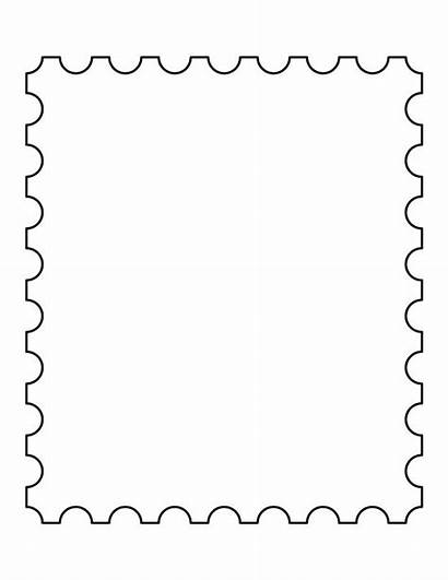 Stamp Postage Stamps Clipart Template Templates Printable