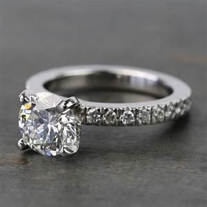 diamond colour chart 1 25 carat round pave diamond engagement ring