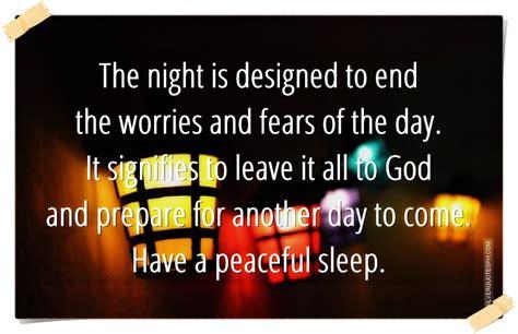 peaceful night sleep quotes quotesgram