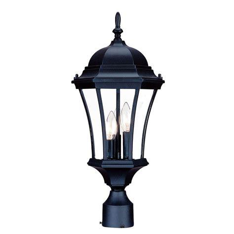 acclaim lighting brynmawr 3 light matte black outdoor post