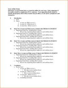 MLA Format Essay Outline