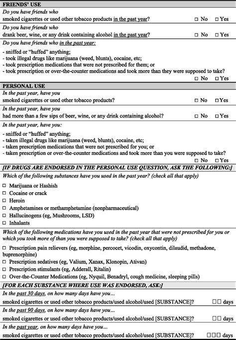 validity   screening instrument  adolescent