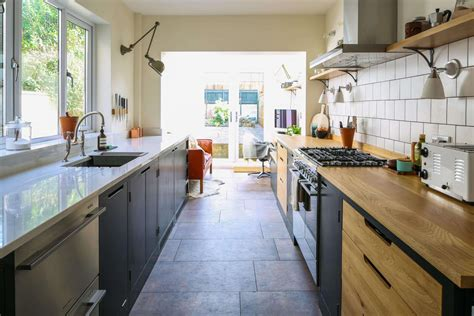 For A Galley Kitchen by Green Industrial Style Galley Kitchen Sustainable Kitchens