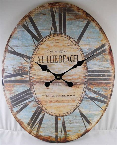 home decor clock oval wall clock is welcome to the clocks