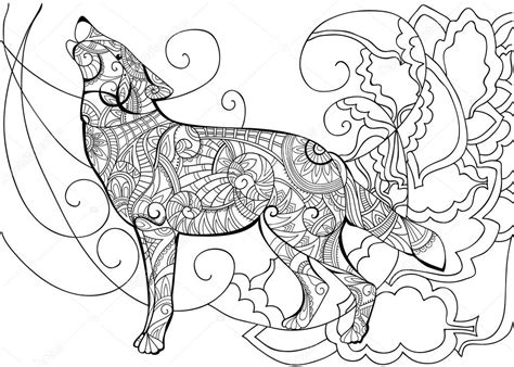 Kleurplaat van winnie de poeh en knorretje die op een brug staan. Grip bodol: Moeilijke Kleurplaat Wolf
