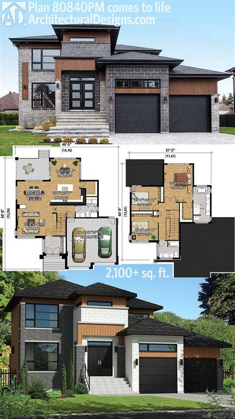 multi level home plans plan 80840pm multi level modern house plan modern house