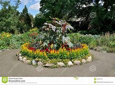Circular flower bed stock photo Image of driveway, earth
