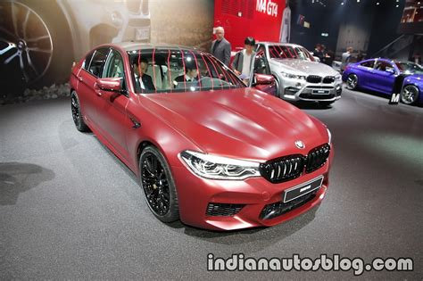 2018 Bmw M5 First Edition Front Three Quarters At The Iaa