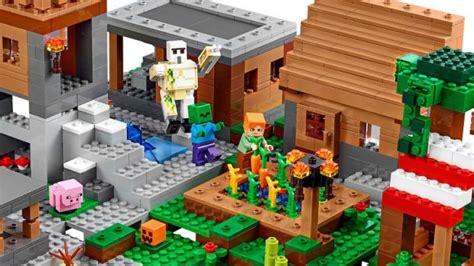 lego minecraft village set   pieces technabob