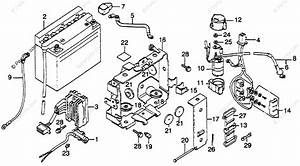 Honda Motorcycle 1979 Oem Parts Diagram For Battery
