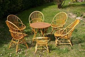 Salon Jardin Rotin : salon de jardin en rotin chouette vintage ~ Premium-room.com Idées de Décoration