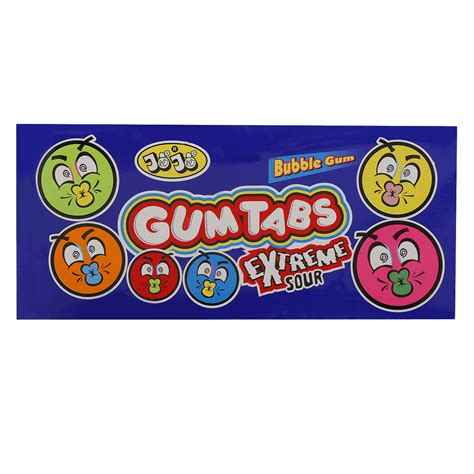 When it's chewed, the caffeine is released into your saliva. Jojo Gum Tabs Extreme Sour Bubble Gum 25 gr Pack of 24   Wholesale   Tradeling