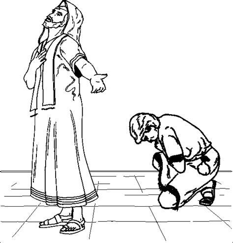 printable coloring page   men praying   temple