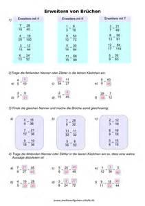mathematik brüche arbeitsblätter - Brüche Erweitern