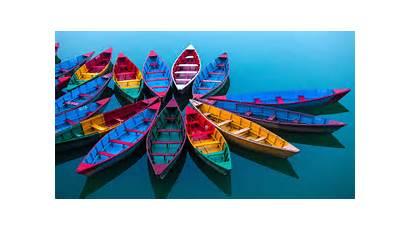 Windows 4k Colorful Lake Microsoft Boats Colourful