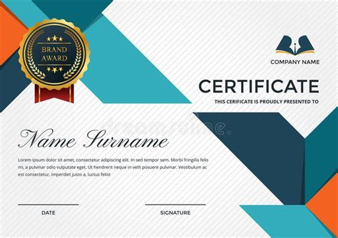 Premium Business Certificate Template With Education