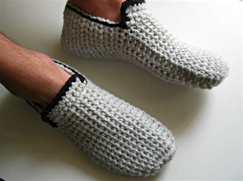 mens house shoes crochet mens slippers crochet loafers