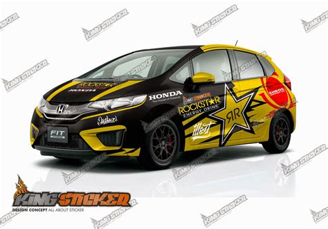 Cutting Sticker Mobil by Cutting Sticker Honda Jazz King Sticker Bali
