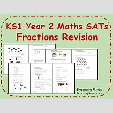Ks1 Year 2 Maths Sats Revision  Fractions Differentiated Levels By Blossomingminds Teaching