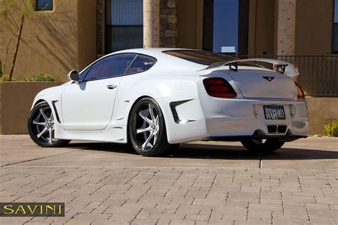matte white bentley gt savini wheels