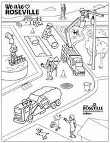 Roseville Coloring Educational Resources Sheet Utilities sketch template