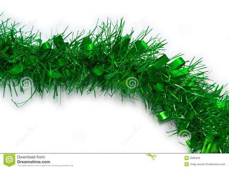 green tinsel christmas royalty free stock photos image