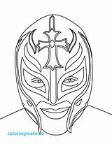 Mysterio Rey Wwe Coloring Wrestling Pages Mask Face Belt Drawing Printable Wrestler Sketch Championship Kalisto Print Misterio Sheets Drawings Ray sketch template