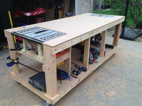 mobile woodworking bench plans home design ideas