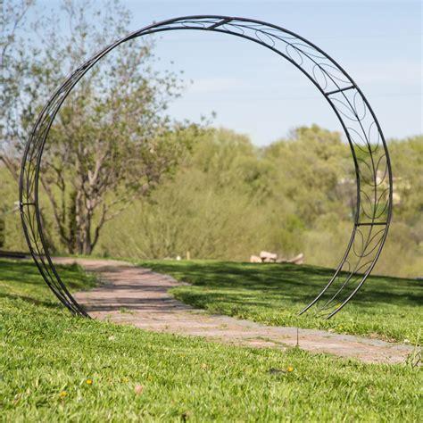 Garden Arch Tunnel by Belham Living Metal Tunnel Garden Arbor Arbors At Hayneedle