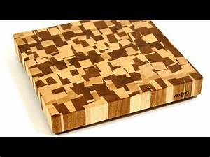A Chaotic Pattern End Grain Cutting Board / Торцевая