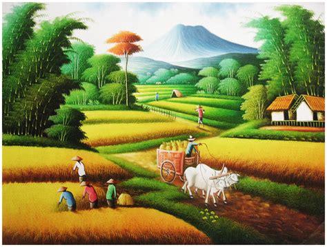 lukisan petani  bali bli blogen